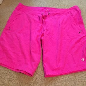 Quick dry fuchsia pink shorts